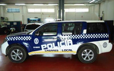 La Policía Local de Casares apuesta por JUMA para el cambio de su puente de luces