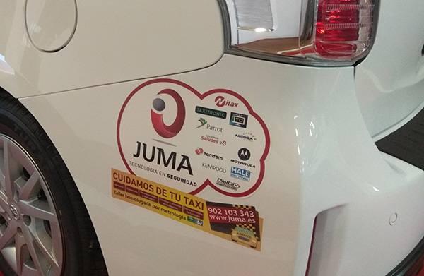 Publicidad JUMA taxi