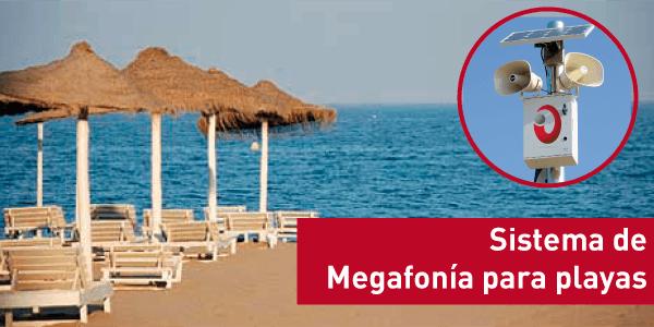 sistema de megafonia para playas
