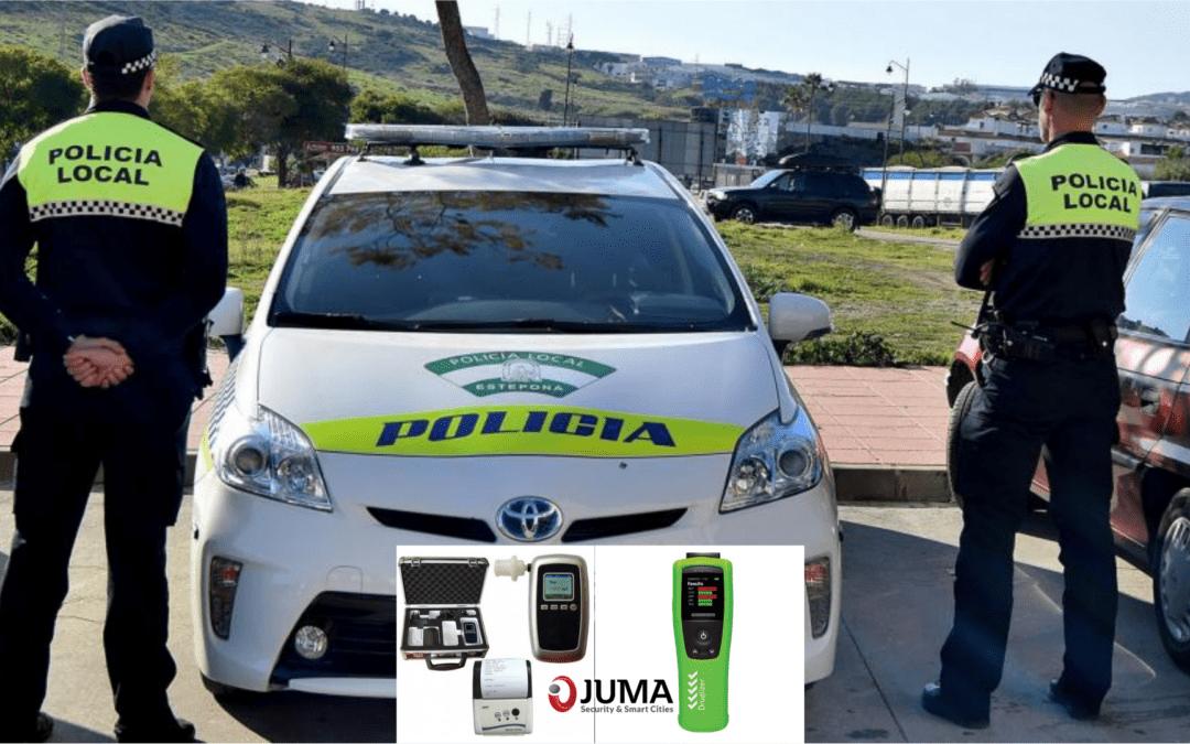 JUMA proporciona etilómetros y druglizers a Estepona ante la llegada inminente de turistas